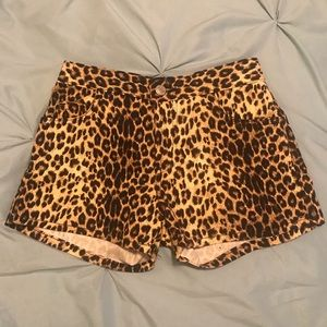 Leopard Print Shorts. Juniors 1. Like new!
